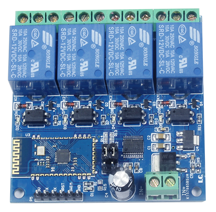 Mạch điều khiển 4 Relay dùng Bluetooth BT04A