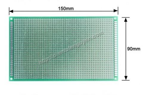 Board đục lỗ 9x15cm ( thủy tinh 2 mặt xanh)