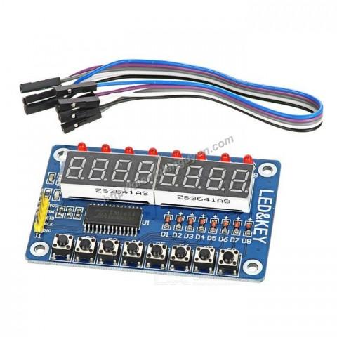 Module TM1638 hiển thị 8 LED và 8 phím Arduino