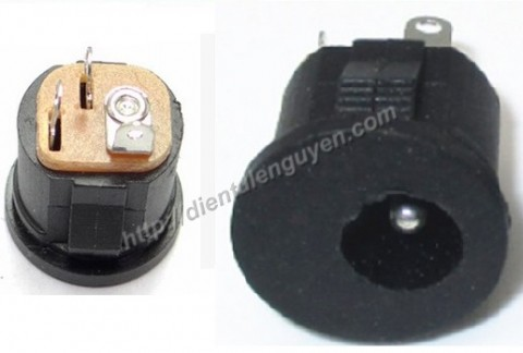 Jack cái DC22 5.5*2.1mm tròn