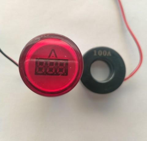 Đèn báo Ampe 0-100A phi 22mm