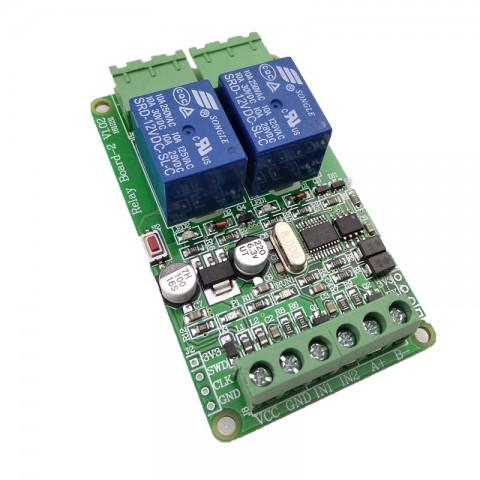 Module Relay 2 Kênh Giao Tiếp Điều Khiển Uart TTL Và RS485, Giao Thức Modbus-RTU