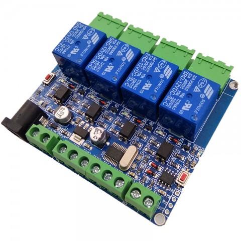 Module Relay 4 Kênh Giao Tiếp Điều Khiển Uart TTL Và RS485, Giao Thức Modbus-RTU