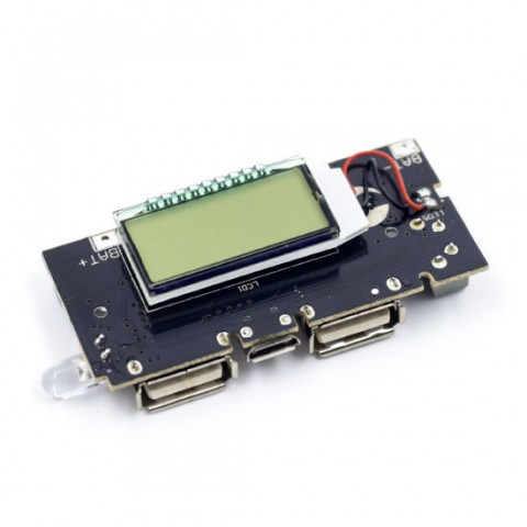 Module sạc pin 18650 LCD USB