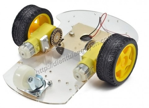 Khung xe robot (2 bánh)