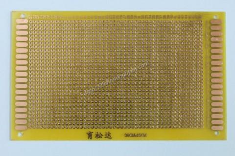 Board đục lỗ 9x15cm ( thủy tinh 1 mặt vàng)