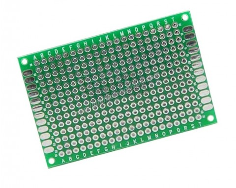 Board đục lỗ 5x7cm ( thủy tinh 2 mặt xanh)